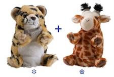 "Wild Republic 8"" Switch-A-Rooz Reversible Plush Giraffe and Cheetah"