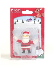 Rudolph The Red-Nosed Reindeer - Santa Figurine 2.5