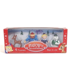 Rudolph The Red-Nosed Reindeer Figures - 4 Pack