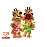 """Plushland Bear Bugs Bumble Bee, Ladybug, Butterfly & Dragonfly 8"""""""