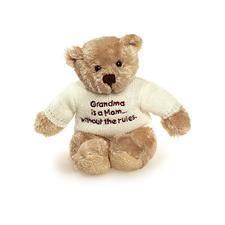 "Plushland Grandma Sweater Bear 8"""