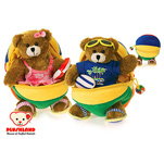 """Plushland Beach Ball Bears 8"""" (set of two)"""