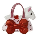 "Aurora 8"" Big Bow Pet Carrier Purse with lights"