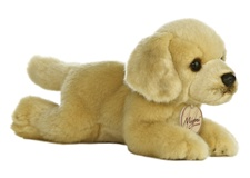 Aurora 8 inch stuffed animal GOLDEN LAB DOG