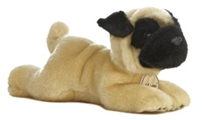 Aurora 8 inch stuffed animal PUG DOG