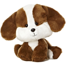 Aurora 6 inch Wobbly Bobblees - Brown Puppy
