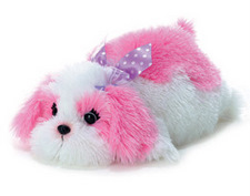 Aurora 12 inch stuffed animal Maddy Pink Dog