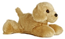 Aurora 8 inch stuffed animal GOLDEN DOG