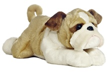 Aurora 12 inch stuffed animal Wills English Bulldog