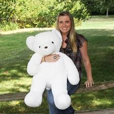 """Beverly Hills Teddy Bear Deluxe 36"""" White Belvedere Bear - Jumbo"""