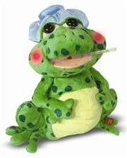 """12"""" Cuddle Barn Fever Frog- Sings 'Fever'"""