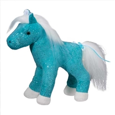 Aqua Sparkle Horse Stuffed Animal