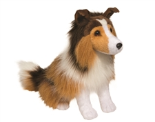 Douglas 12 inch stuffed animal Sitting Lassie