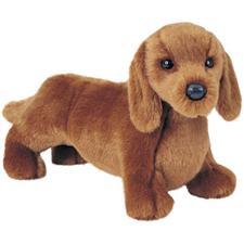 Douglas 12 inch stuffed animal Mini Floppy Gretel Red Dachshund Dog