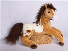 Gold Paint Horse Plush Toy