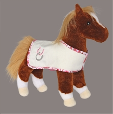 Stuffed Chestnut Horse with Blanket
