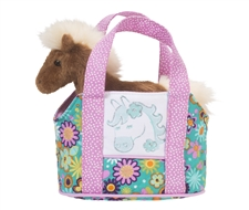 "Douglas 7"" Flower Horse Purse"