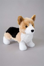Douglas 8 inch stuffed animal Shorty Tri-color Corgi