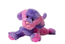 Douglas 12 inch pink and purple stuffed animal Flufferton Dog