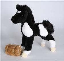 Black & White Paint Horse Stuffed Animal