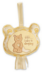 """Baby Gund Bear Tales 6.5"""" Message Pillow Yellow"""