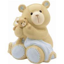 "Baby Gund Bear Tales 5"" Bear Bank Blue"