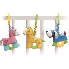 Baby Gund Pulldown Teether (blue dog)
