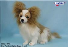 17 inch Hansa Papillion Dog Beige