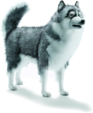 Hansa Life Size Gray Siberian Husky Stuffed Animal