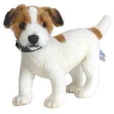 Hansa Lifelike Jack Russel Terrier Stuffed Animal - 13 in.