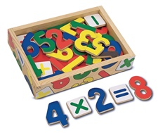 Melissa & Doug Magnetic Wooden Numbers 449