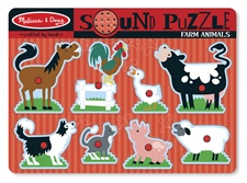 Melissa & Doug Farm Animals Sound Puzzle 726