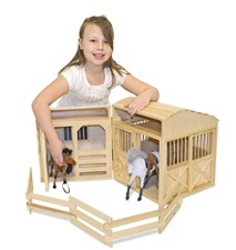 Melissa & Doug Folding Horse Stable 785