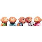 """Five Little Monkeys 5"""" Finger Puppet Set - 5pcs"""