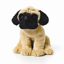 Small 5.5 inch Nat & Jules Pug Dog