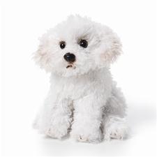 Small 5.5 inch Nat & Jules Bichon Frise Dog