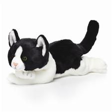 """11"""" Nat & Jules Black & White Cat P00065"""