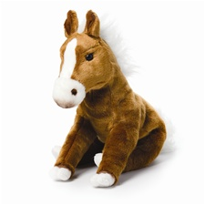 White & Brown Horse Stuffed Toy