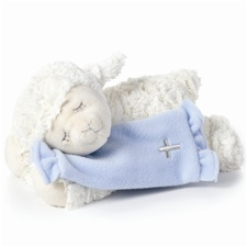 "9.5"" Nat & Jules TB Blue Now I Lay Me Down To Sleep Lamb"