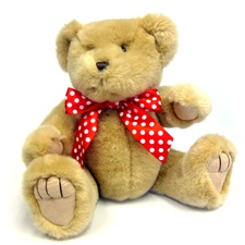 "Medium Red Polka Dot Bow - Recommended For Animals 11"" To 24"" Long-bear Not Included"