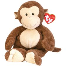 "Ty Pluffies 10"" Dangles Monkey"