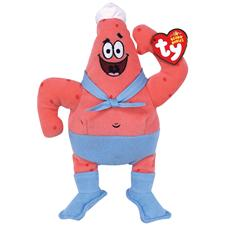 "Ty Beanie Babies 8"" Spongebob's Patrick Barnacleboy"