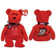 """Ty Beanie Babies Nascar 8"""" Kasey Kahne #9 Bear 40639"""