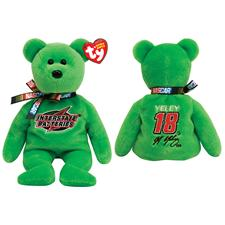 "Ty Beanie Babies Nascar 8"" J.J. Yeley #18 Bear"