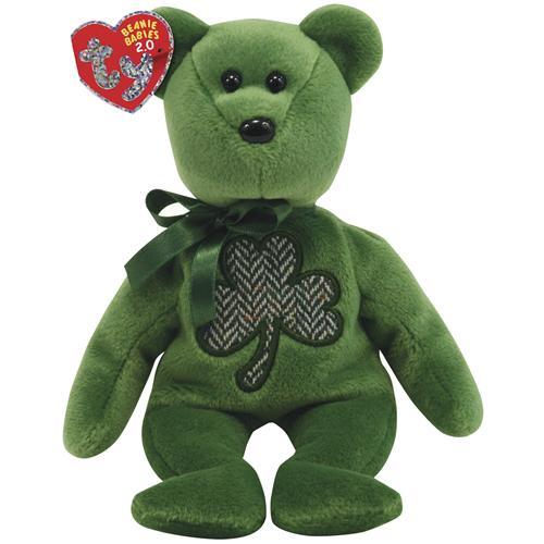 "Ty Beanie Babies 2.0 8"" Luckier St. Patrick's Day Bear"