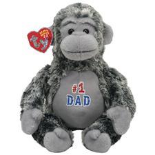 """Ty 2.0 Beanie Babies 8"""" Pops #1 Dad Gorilla"""
