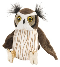 "8"" Wild Republic Cuddlekins-Mini Great Horned Owl discontinued"