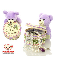 Plushland Mom is a Treasure Bear and Jewelry Box 8""