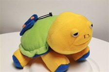 "Beverly Hills Teddy Bear 12"" Plush Rattle Turtle-Green"
