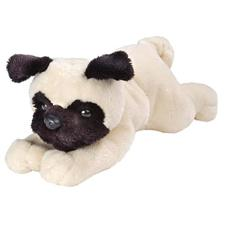 "Wild Republic Dog Floppy Pug 7"" Plush Toy"